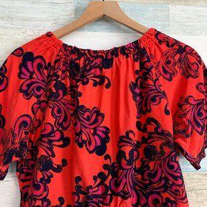 koi Tops - Koi Bella Scrub Top Floral Red Blue Purple 149